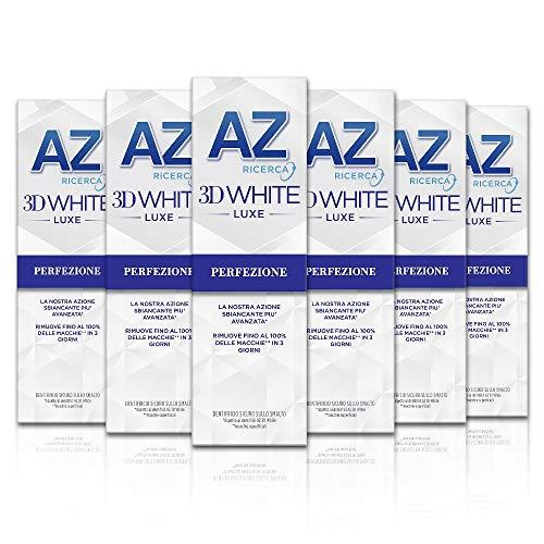 6x75ml Az Ricerca Dentifricio 3D White Luxe Perfezione