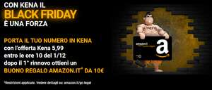 Black Friday Kena Mobile: 70GB + minuti e SMS illimitati a 5,99€ (+10€ AMAZON)