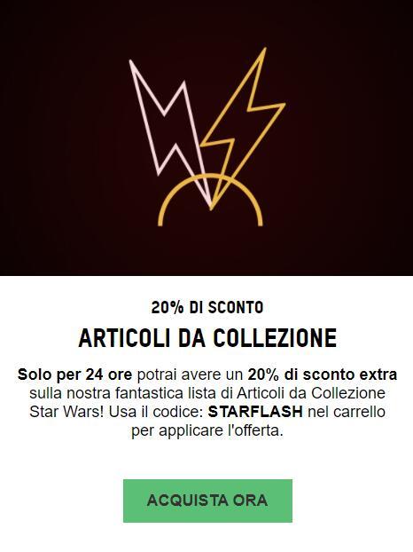 ARTICOLI DA COLLEZIONE STAR WARS -20%