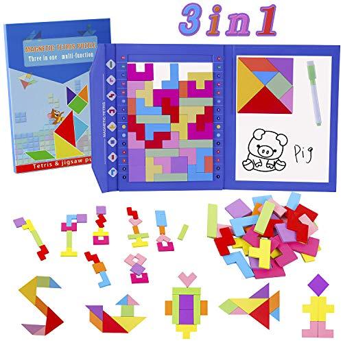 Puzzle di Legno Magnetico & tavolo da disegno + Penna