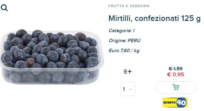 Esselunga - mirtilli confezionati 125 g