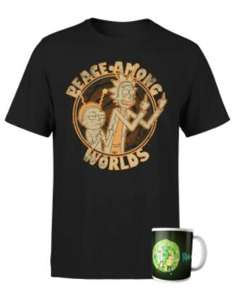 T-Shirt + Tazza RICK & MORTY 11.4€