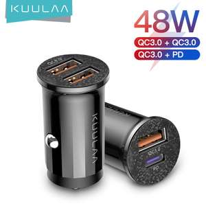 Caricatore Auto 48W Quick Charge 3.0