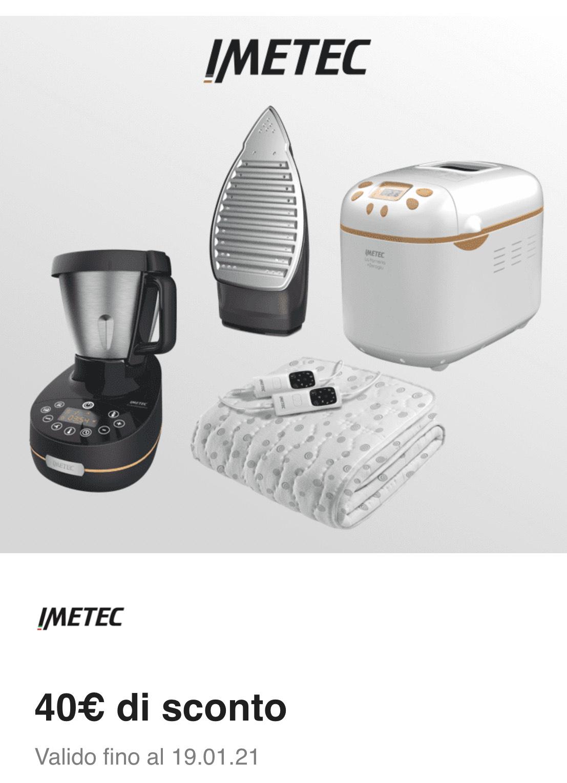 Enel - 40€ di sconto su minimo di 80€ sul sito Imetec