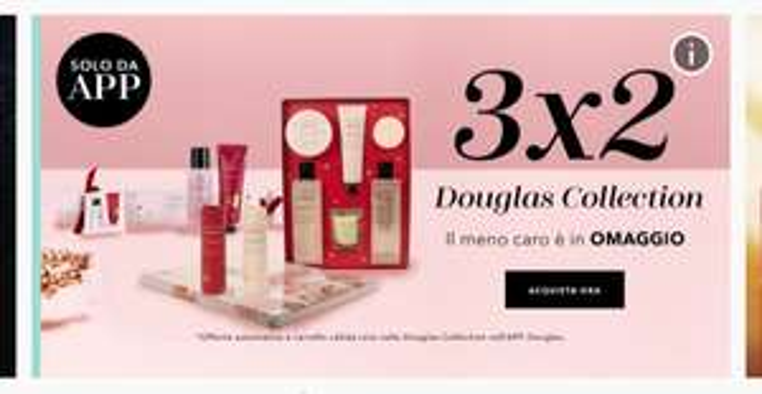 3x2 da app douglas per i prodotti della douglas collection
