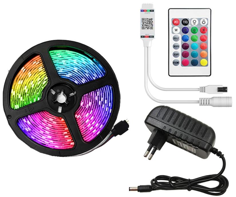 Striscia LED RGB 5Mt + Telecomando 2.81€