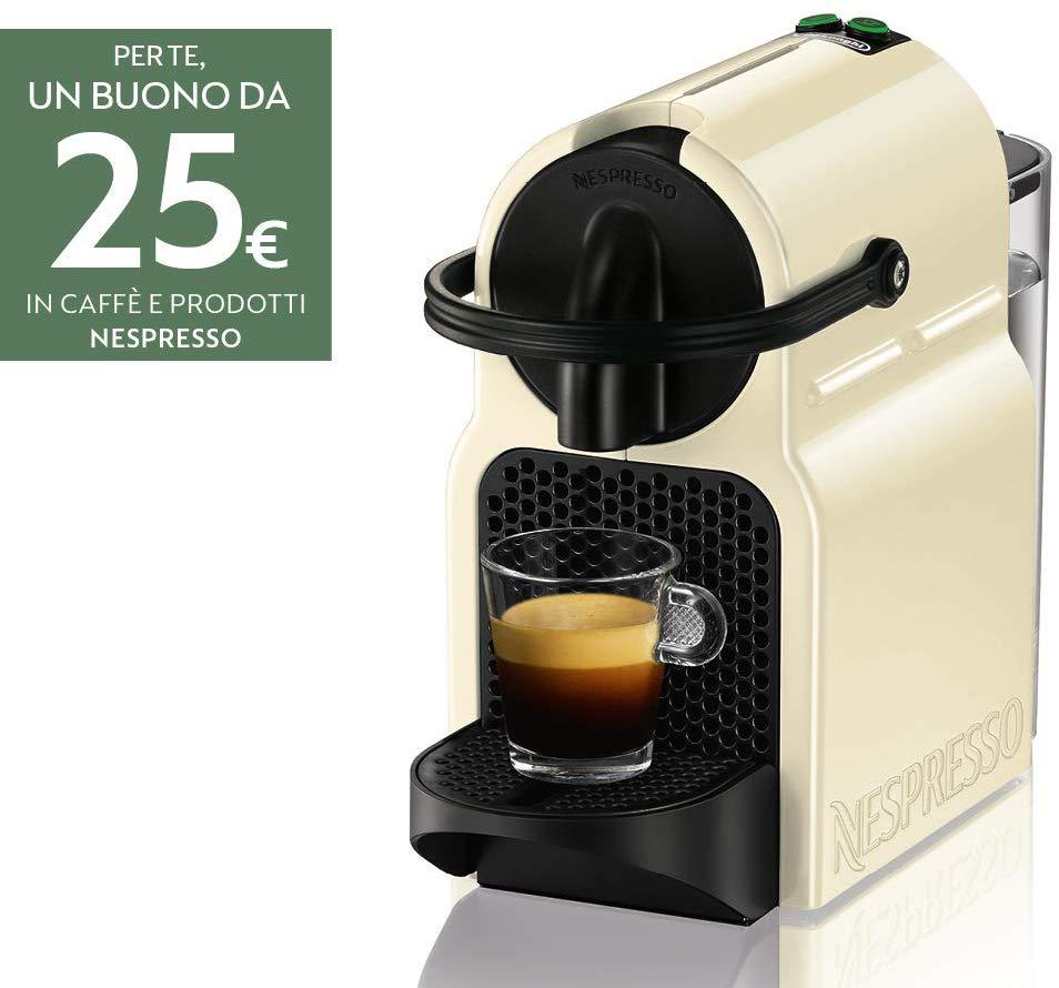 Nespresso Inissia Macchina per caffè Espresso, Beige + Buono Nespresso 25€
