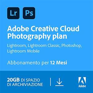 Adobe Creative Cloud Photography Plan with 20GB | 1 Anno