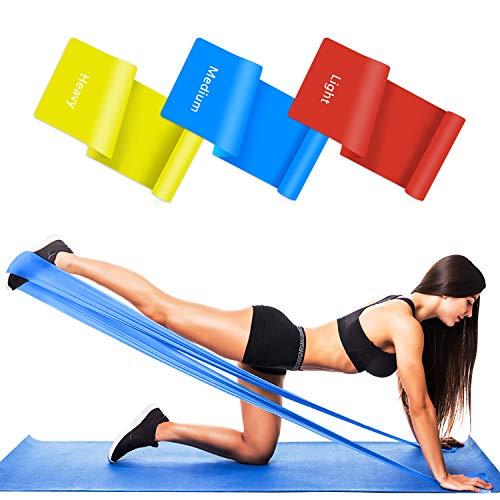 Bande Elastiche Fitness 3 Livelli di Resistenza(1.5m/1.8m/2m)