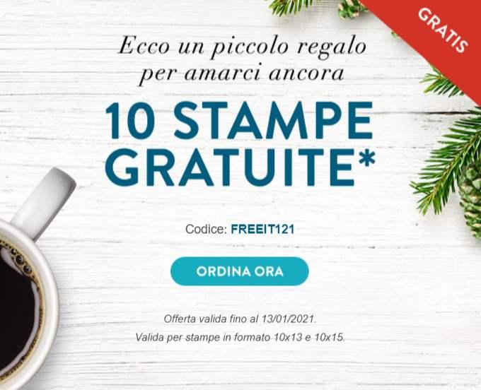 Snapfish - 10 Stampe Gratis in Formato 10x15 oppure 10x13