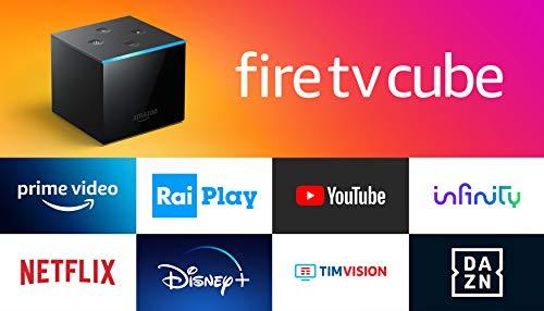 Fire TV Cube   Lettore multimediale per lo streaming con controllo vocale tramite Alexa e 4K Ultra HD