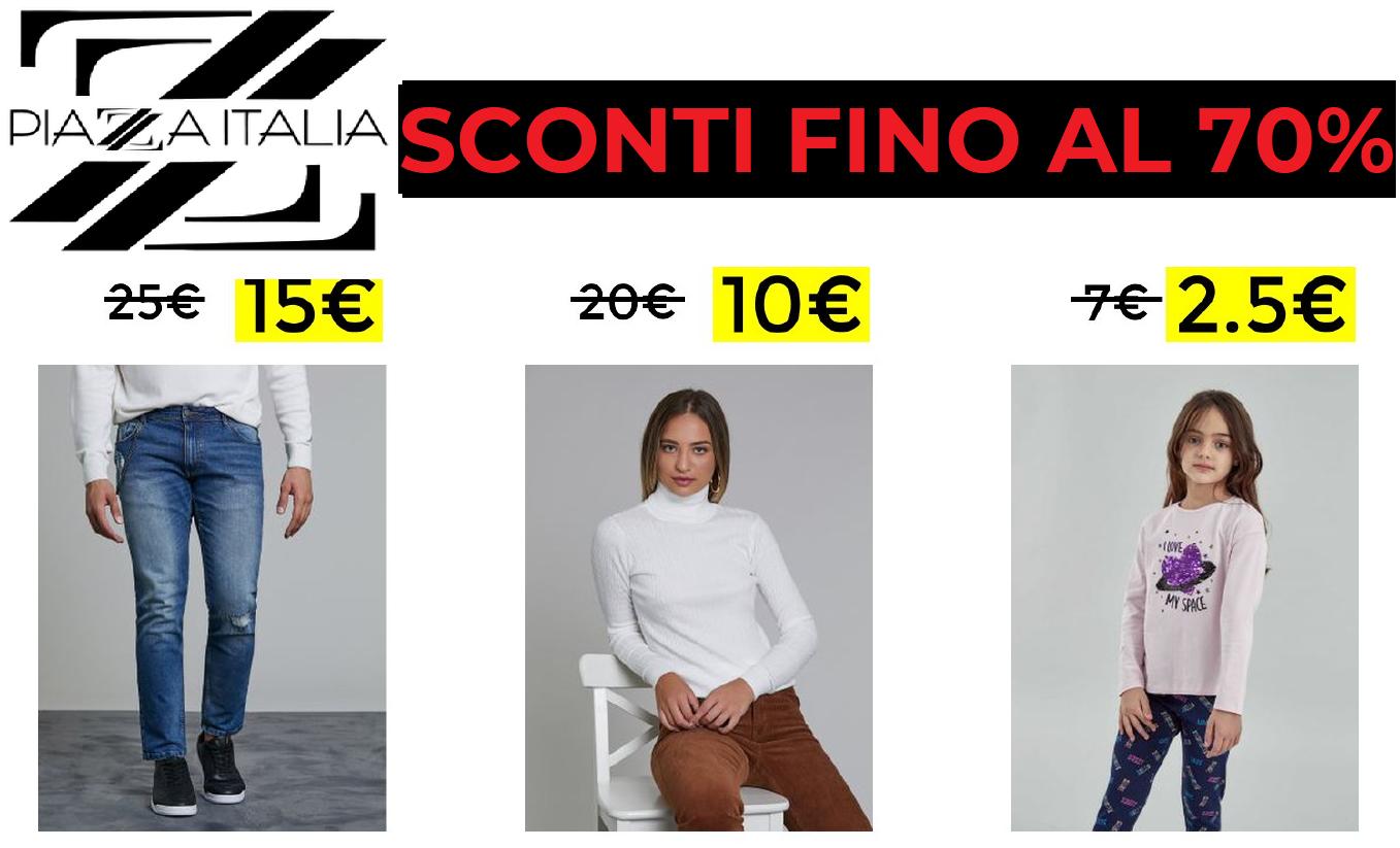 Piazza Italia Sconti Fino al 70%