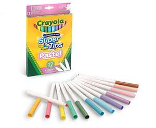 Crayola Pennarelli Lavabili per Bambini 12 pezzi