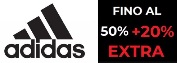 Outlet Adidas Sconto 50% + 20% Extra