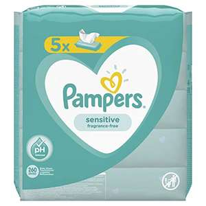 5x 52 salviette Umidificate Pampers Sensitive
