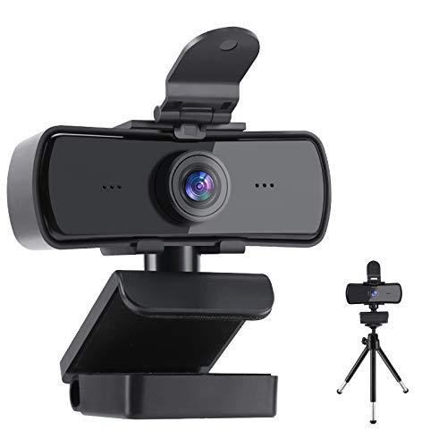 Webcam Streaming 2K HD con Copertura per la Privacy e treppiede 2 K