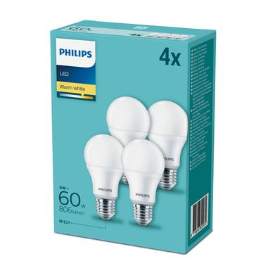 4x PHILIPS LAMPADA LED A GOCCIA 9W E27