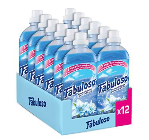 12x40 lavaggi Fabuloso, Ammorbidente Concentrato Fresco Mattino,