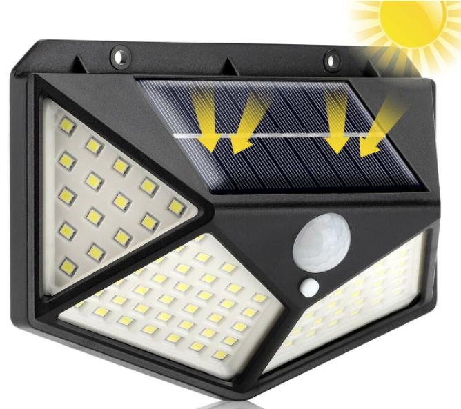 Luce Solare 100 Led con Sensore 3.7€