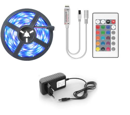 Striscia LED RGB 5Mt con Telecomando 1.9€
