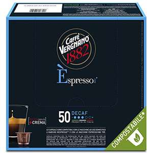Caffè Vergnano Pacco da 50 Capsule Decaffeinato compatibili Nespresso