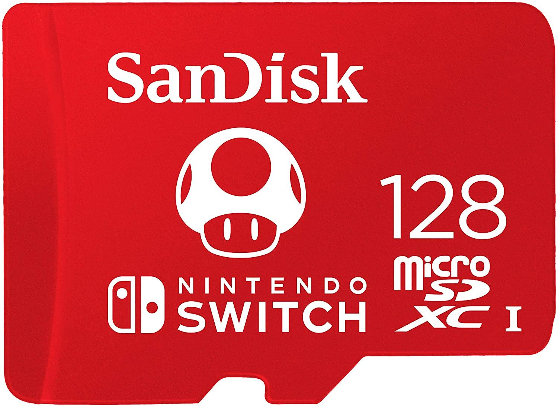 SanDisk 128 GB MicroSDXC Official Nintendo 13.5€
