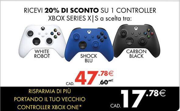 Controller XBOX Series S/X portando il controller usato della XBOX One