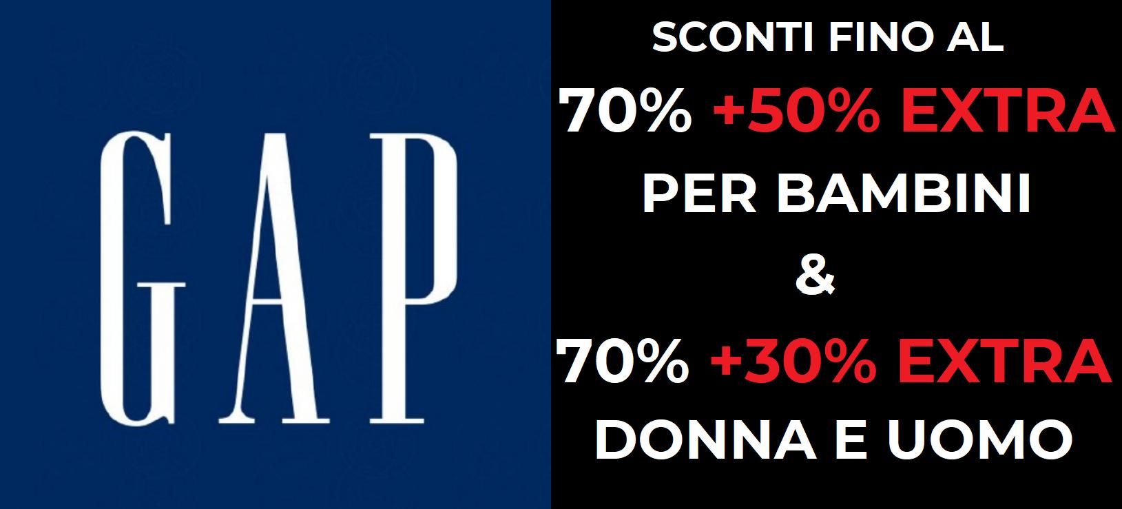 Sconti fino al 70% + 50% Extra