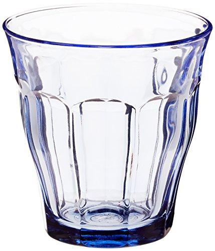 6 bicchieri da 25cl in vetro Blu Marine