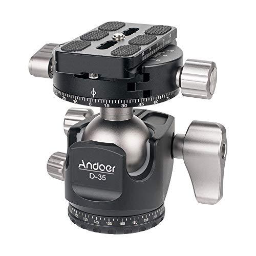 Andoer D-35 Supporto Snodabile a Doppia Testa per Fotocamere