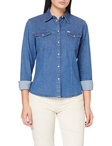 Lee Slim Camicia di Jeans Donna
