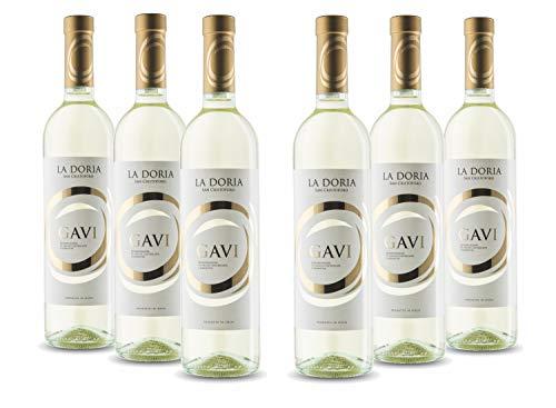 6x La Doria Gavi DOCG - Vino Bianco Secco - 750 ml