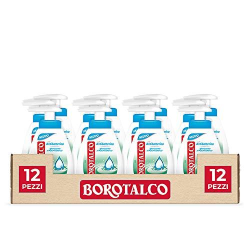 Borotalco Sapone Liquido Antibatterico 250 ml 12 Pezzi