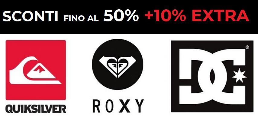Fino al 50%+ 10% EXTRA Quicksilver, Roxy, DC Shoes