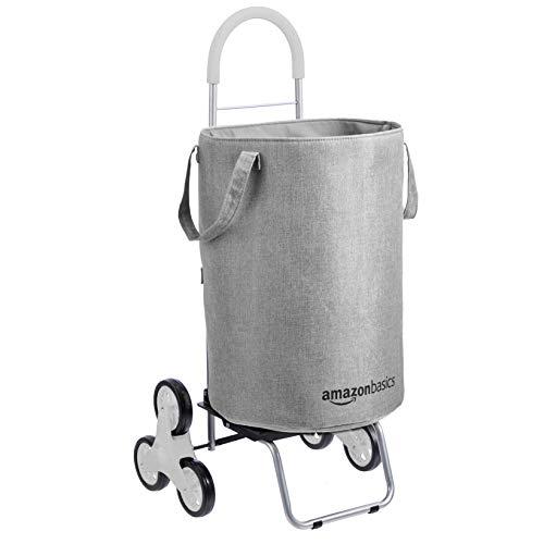 Amazon Basics - Cesto per il bucato, con ruote