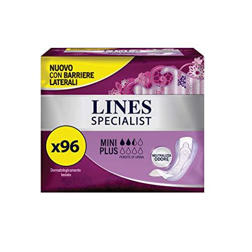 Lines Specialist Mini Plus, 96 Assorbenti per Incontinenza Donna