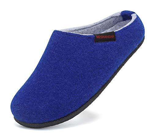 Mishansha Pantofole in Feltro Bambini Warm Scarpe di Cotone Inverno Ciabatte Gr.28-35