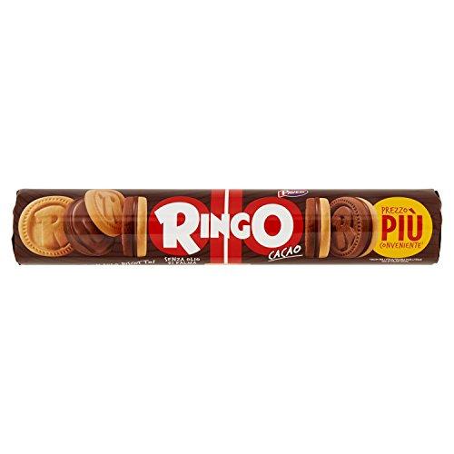 Pavesi Ringo Biscotti Farciti con Crema al Gusto Cacao 9 tubi da 165 gr