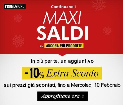 Maxi Sport: Sconto extra saldi 10%