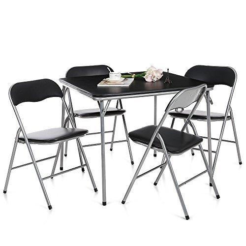 Set Tavolo e Sedie in Metallo Pieghevoli