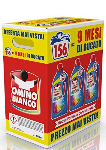 Omino Bianco Color+ - Detersivo Lavatrice (156 Lavaggi)