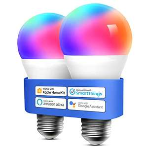 Lampadina Wifi Intelligente LED Dimmerabile Multicolore E27 9W - 2 pezzi