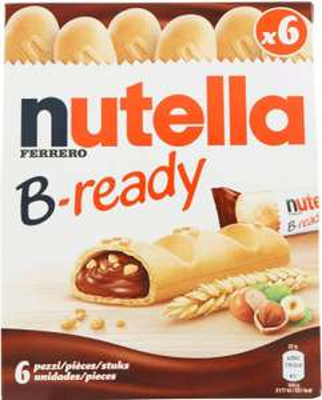 Nutella B-ready - confezione da 6 Pezzi