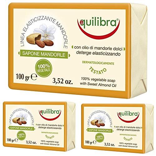 12x Equilibra Mandorle Sapone 100% vegetale - 100 gr