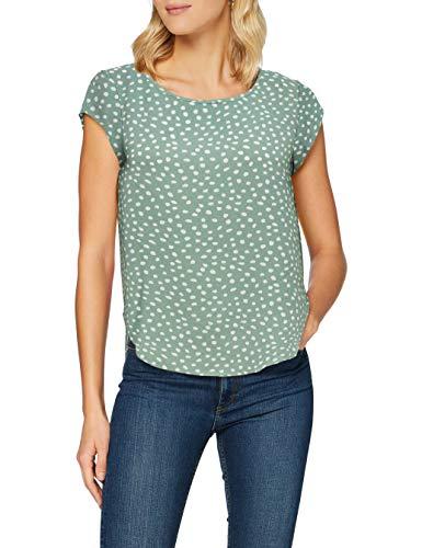Only Onlvic SS AOP Top Noos Wvn T-Shirt Donna