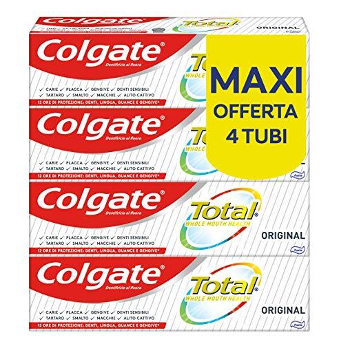 4x Colgate Dentifricio con Ingredienti Antibatterici