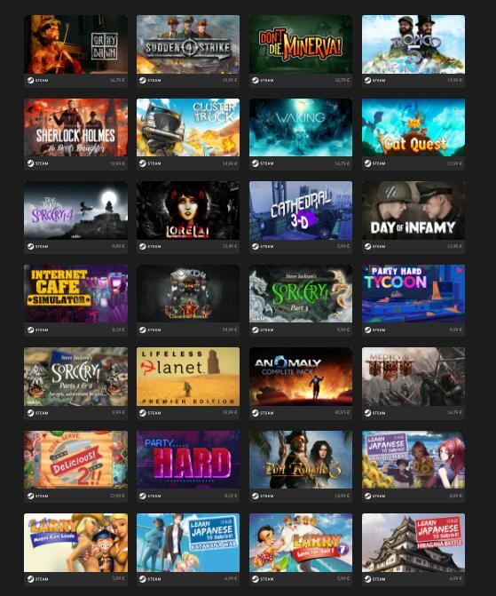 20 Giochi a Scelta per Steam a soli 9,79€ o 1 per 1€
