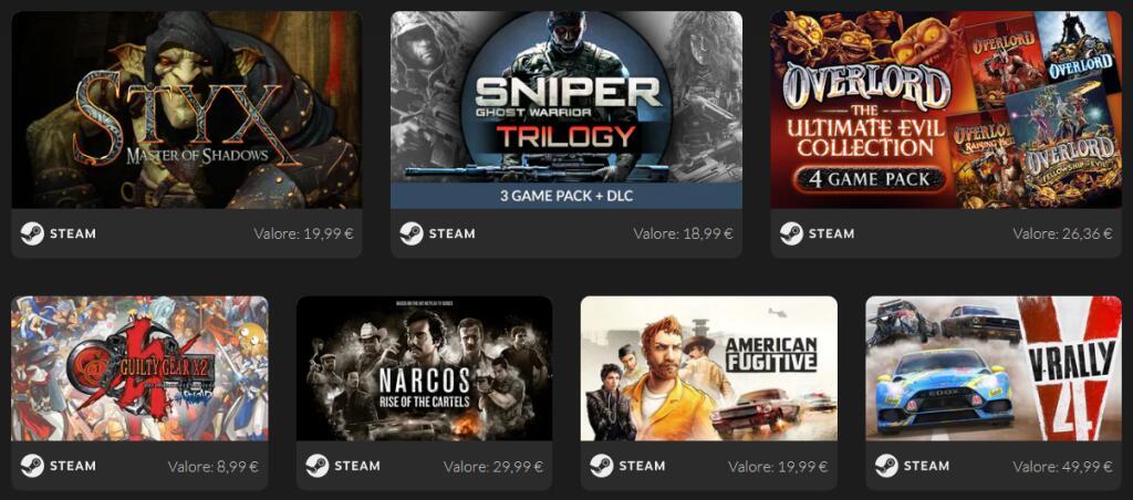Bundle giochi PC - 7 giochi su Steam