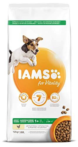 Iams for Vitality - alimento Secco per Cani Adulti di Taglia Piccola e Media con Pollo- 12 kg