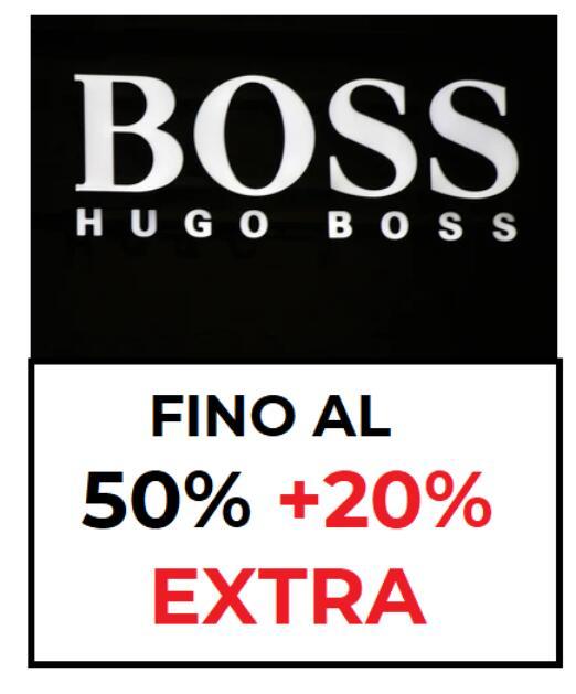 Hugo Boss fino al 50% + 20% EXTRA